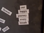 Leah's magnetic poetry