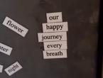 Leah's magnetic poetry